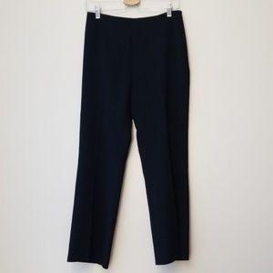Akris Punto Sz 8 Stretch Wool Straight Leg Pants